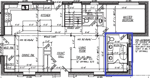 Master bathroom plan