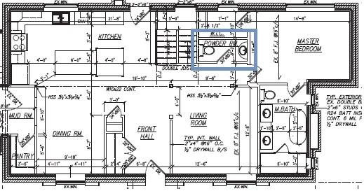 powder room plan