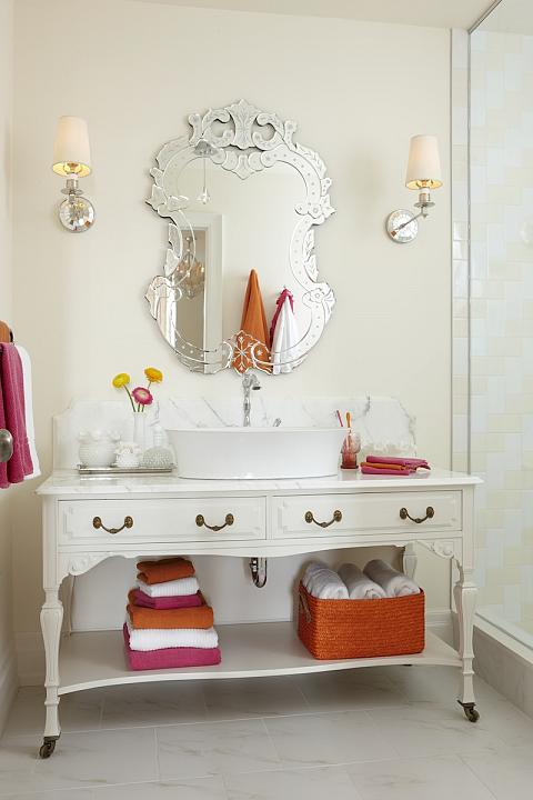 Bathroom Vanities Donu0027t Have To Be New! Find Old Desk With A Fresh Coat Of  Paint To Add Some Character! Photo Via Sarah Richardson Design
