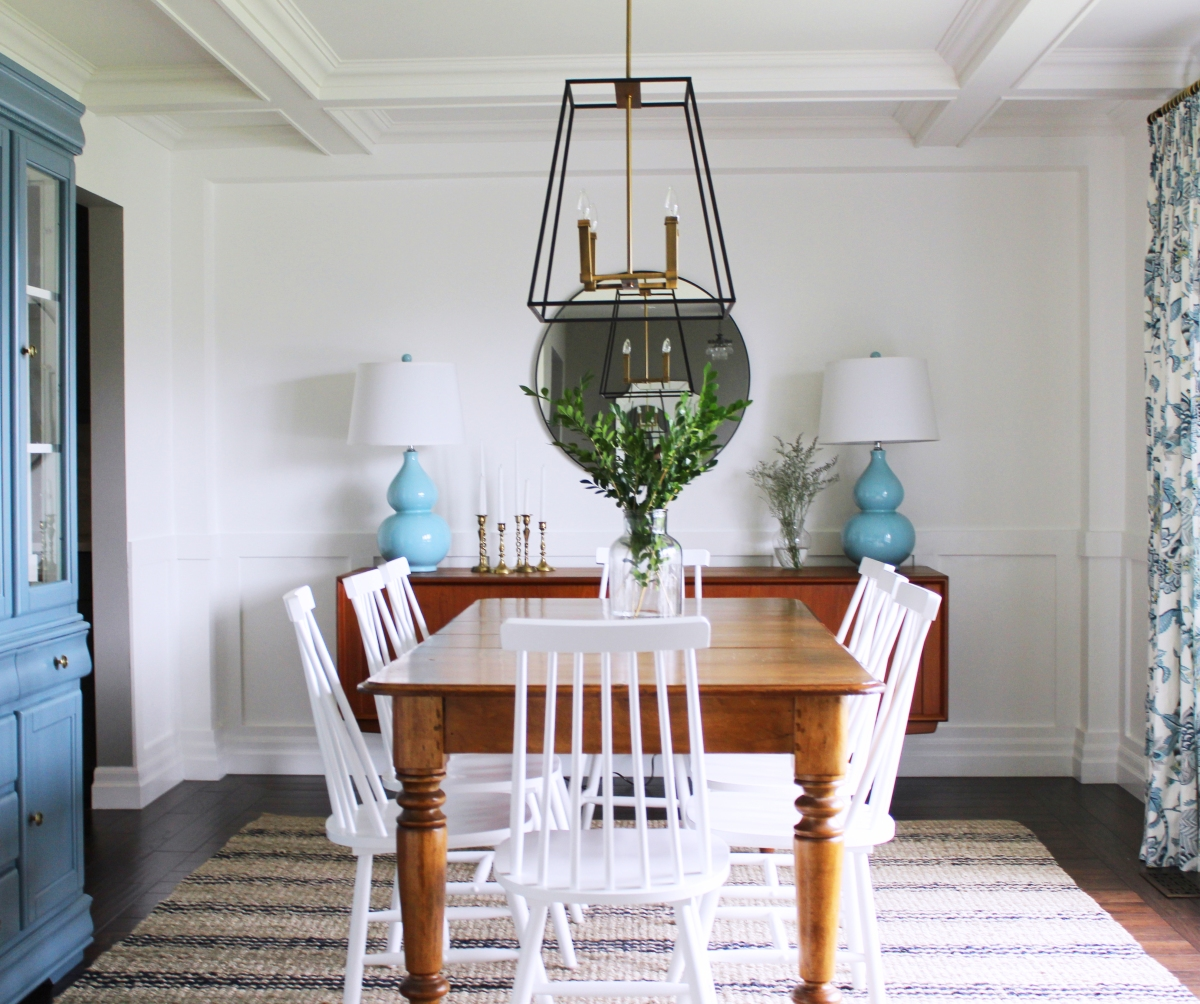 Dining room reveal for Makeup by tiffany d dining room